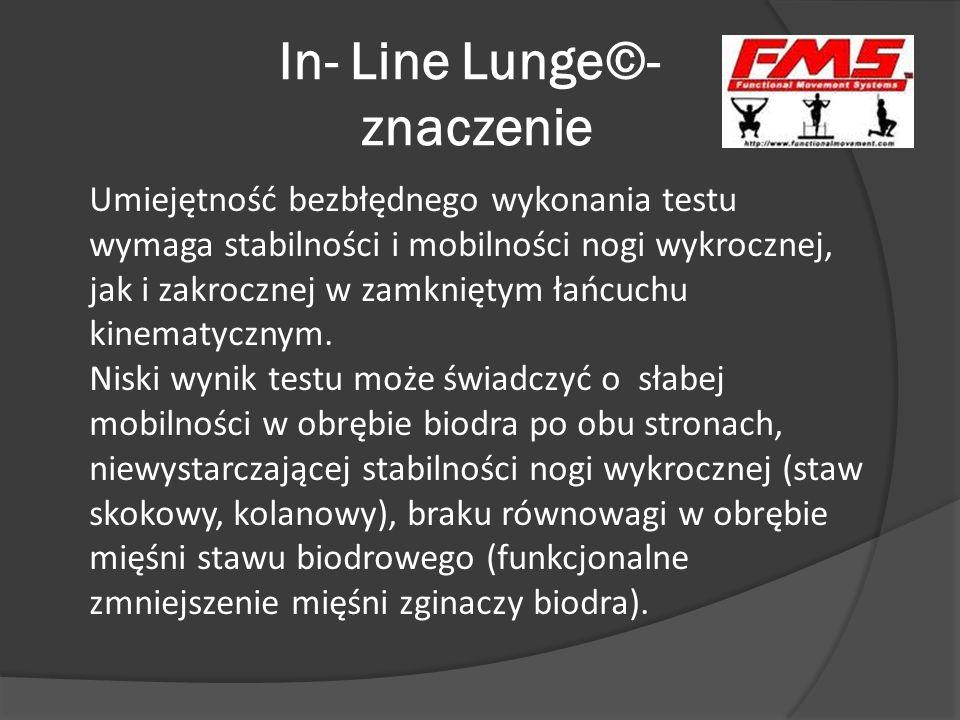 In- Line Lunge©- znaczenie