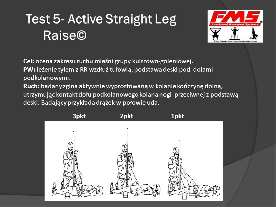 Test 5- Active Straight Leg Raise©