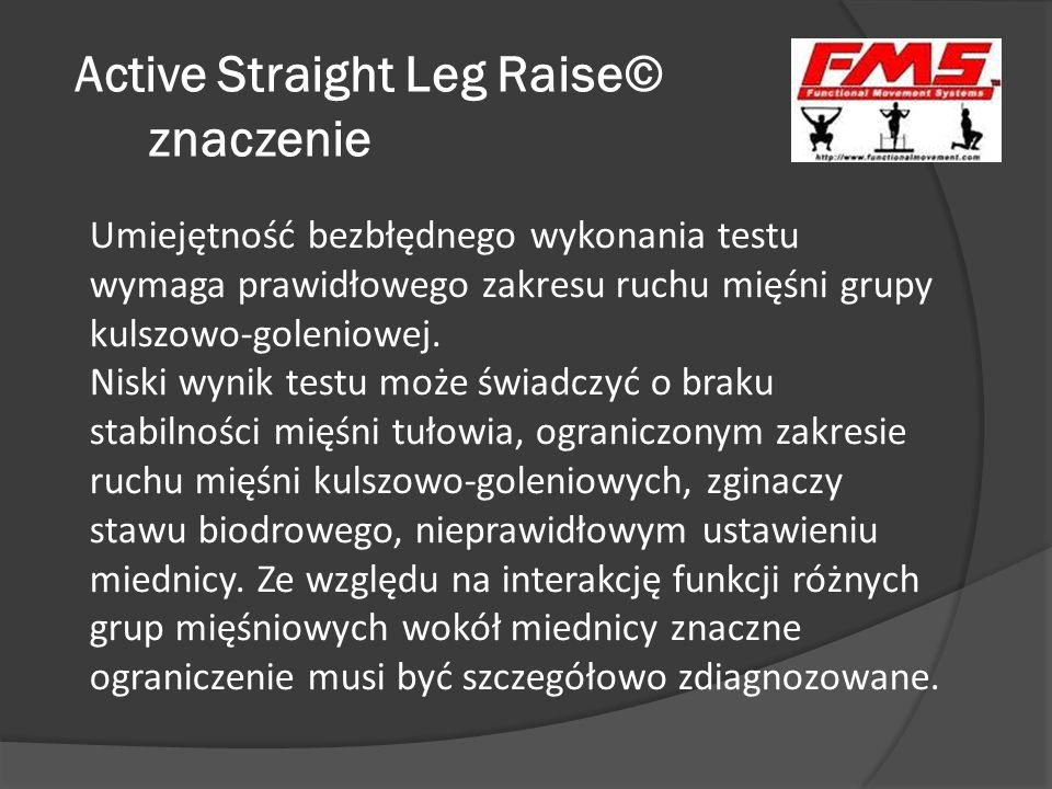 Active Straight Leg Raise© znaczenie