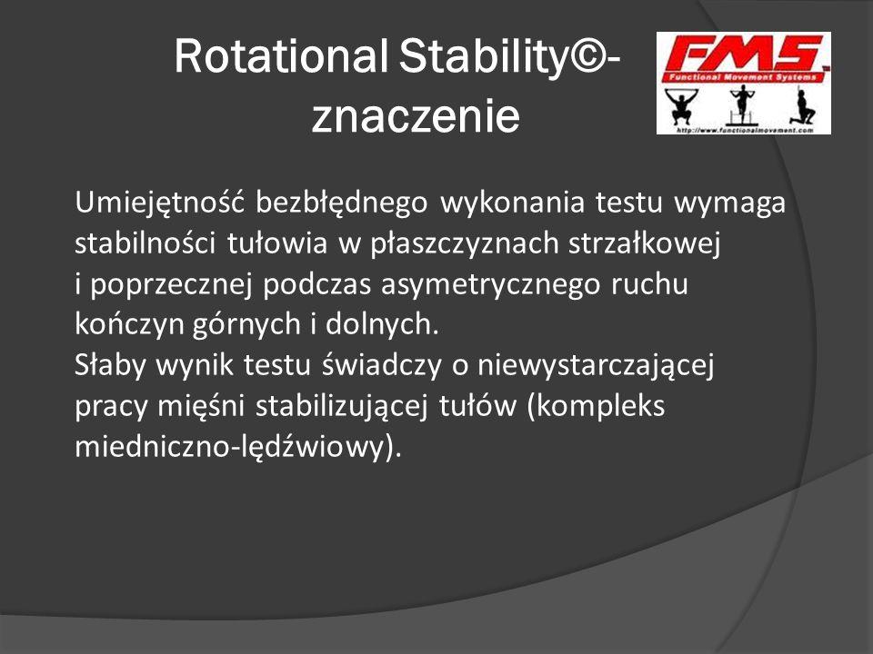 Rotational Stability©- znaczenie