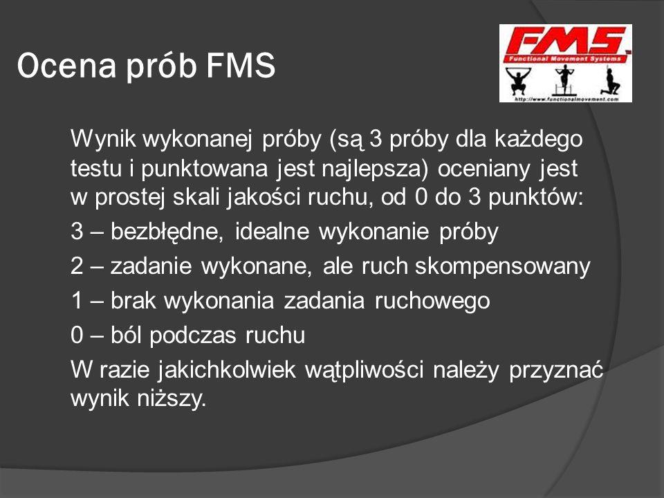 Ocena prób FMS