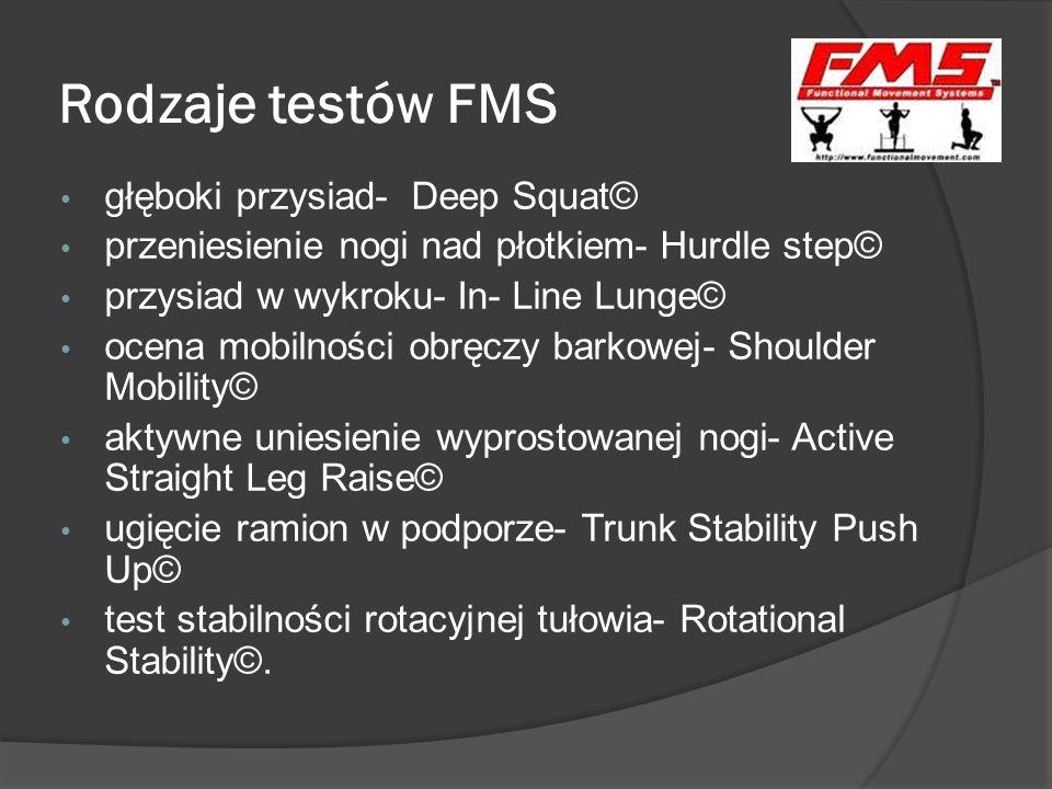 Rodzaje testów FMS głęboki przysiad- Deep Squat©