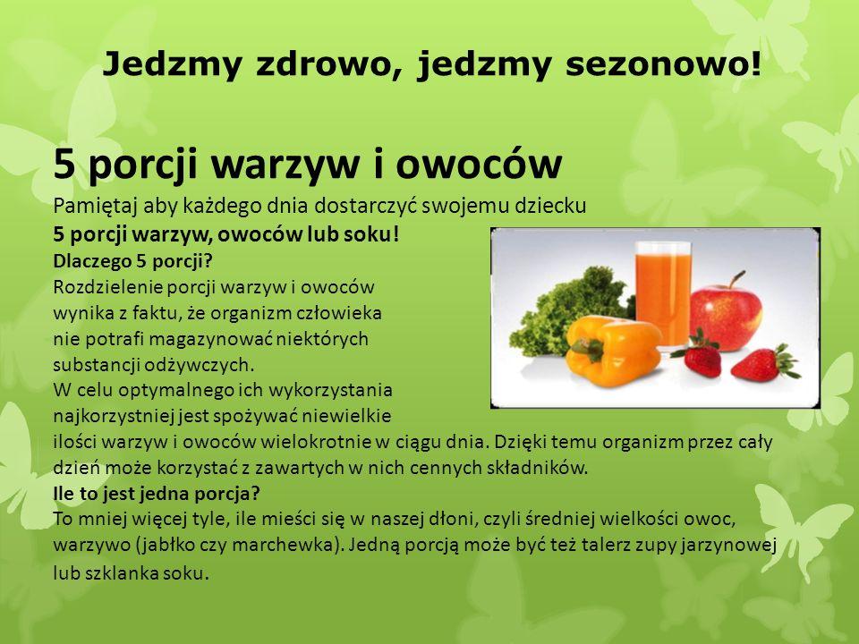 Jedzmy zdrowo, jedzmy sezonowo!