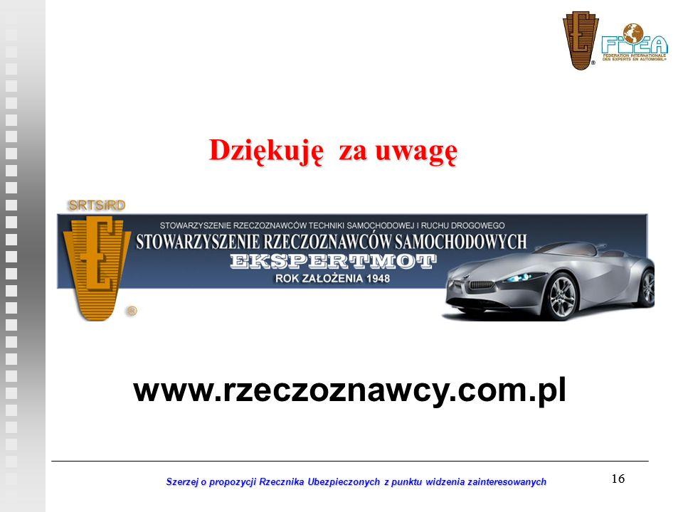 www.rzeczoznawcy.com.pl Dziękuję za uwagę 16