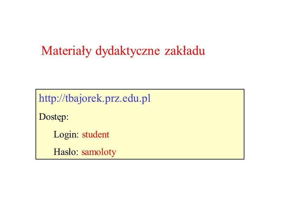Materiały dydaktyczne zakładu