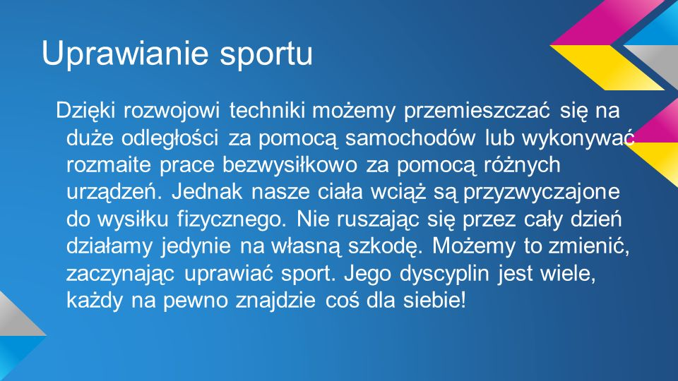 Uprawianie sportu