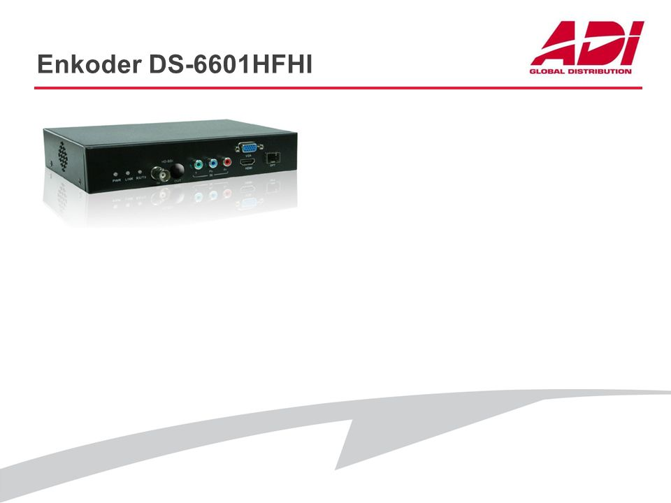 Enkoder DS-6601HFHI PODSTAWOWE CECHY Rozdzielczość: 1080p@25kl./s