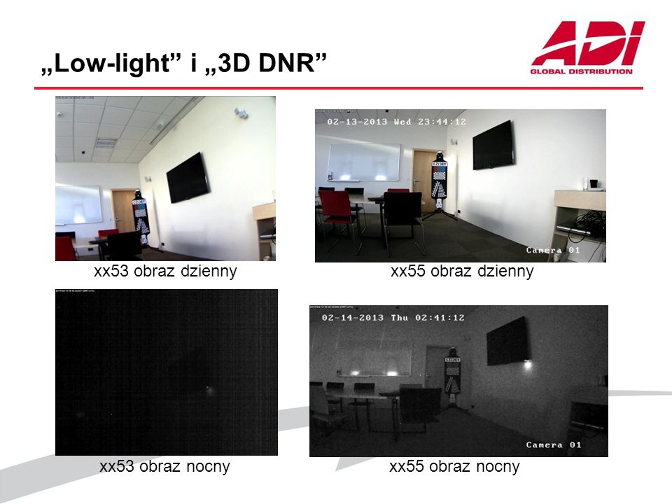 """""""Low-light i """"3D DNR xx53 obraz dzienny xx55 obraz dzienny"""