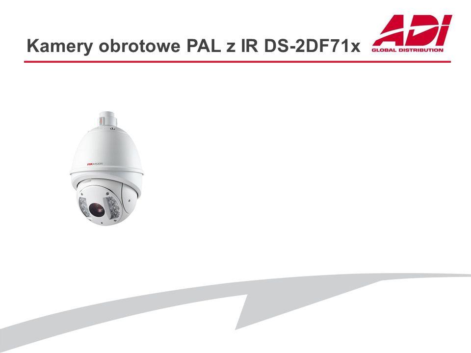 Kamery obrotowe PAL z IR DS-2DF71x