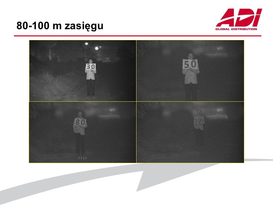 80-100 m zasięgu