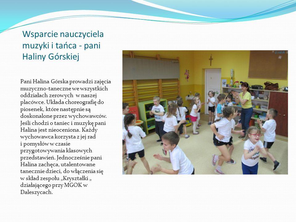Wsparcie nauczyciela muzyki i tańca - pani Haliny Górskiej