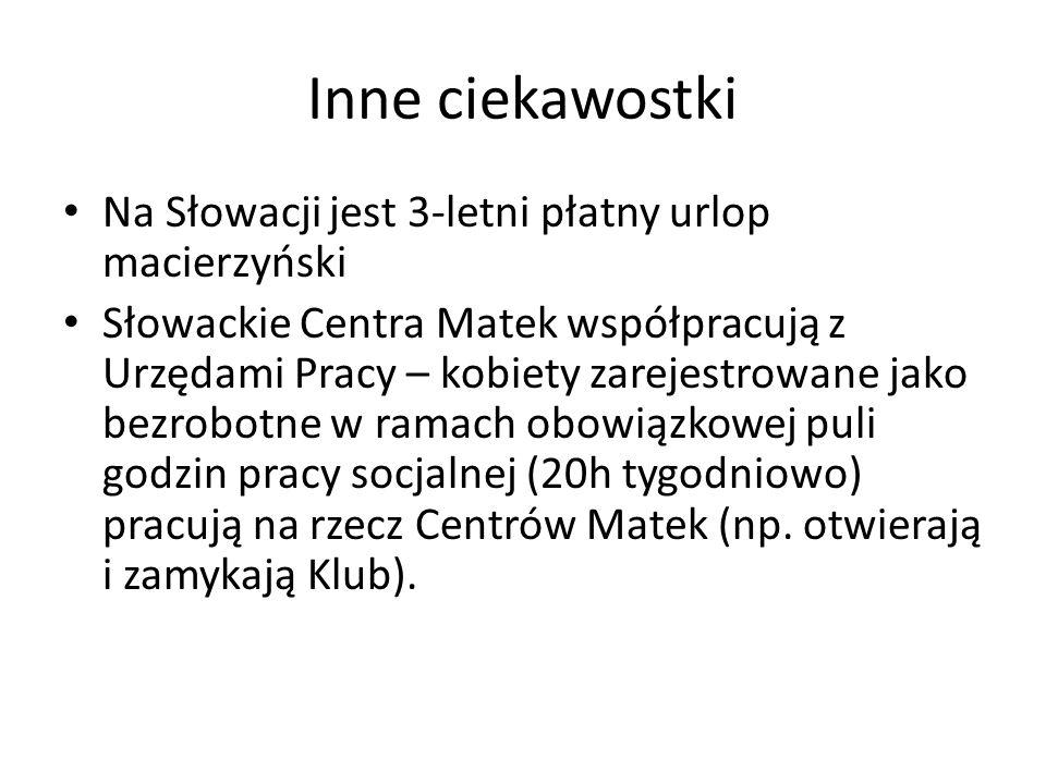 Inne ciekawostki Na Słowacji jest 3-letni płatny urlop macierzyński