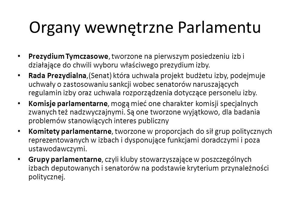 Organy wewnętrzne Parlamentu