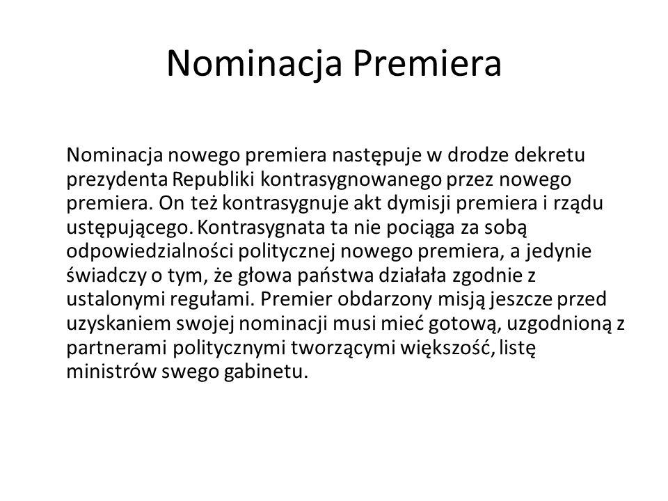 Nominacja Premiera