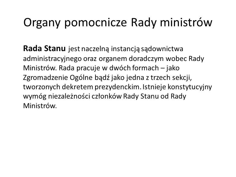 Organy pomocnicze Rady ministrów