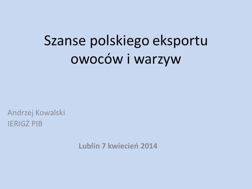 Szanse polskiego eksportu owoców i warzyw