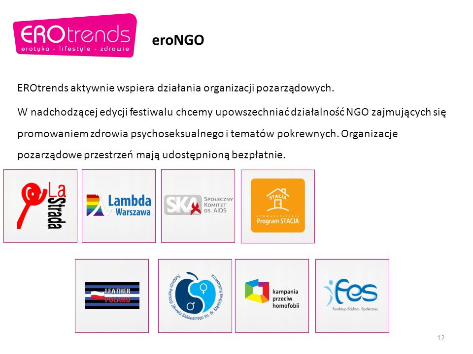 eroNGO EROtrends aktywnie wspiera działania organizacji pozarządowych.