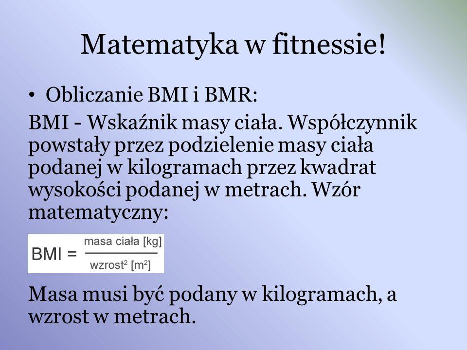 Matematyka w fitnessie!