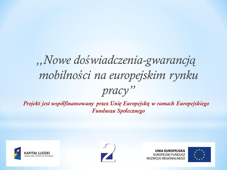 ,,Nowe doświadczenia-gwarancją mobilności na europejskim rynku pracy
