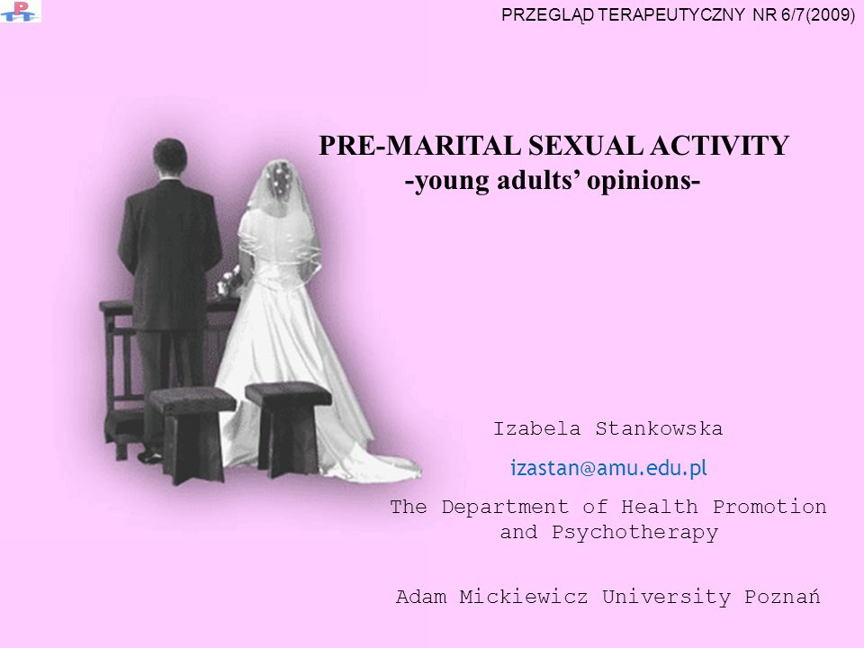 PRE-MARITAL SEXUAL ACTIVITY -young adults' opinions-