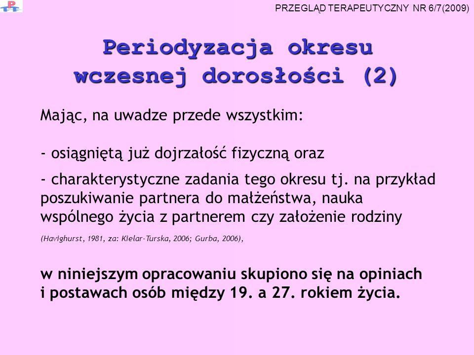 Periodyzacja okresu wczesnej dorosłości (2)