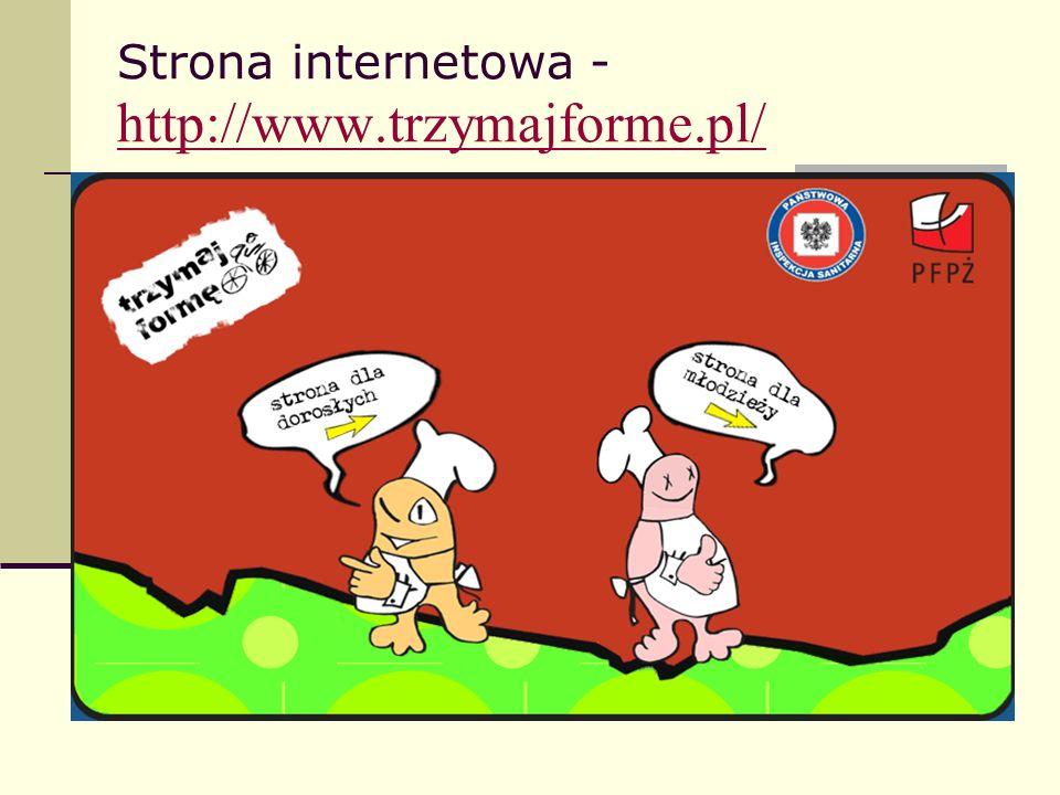 Strona internetowa -http://www.trzymajforme.pl/