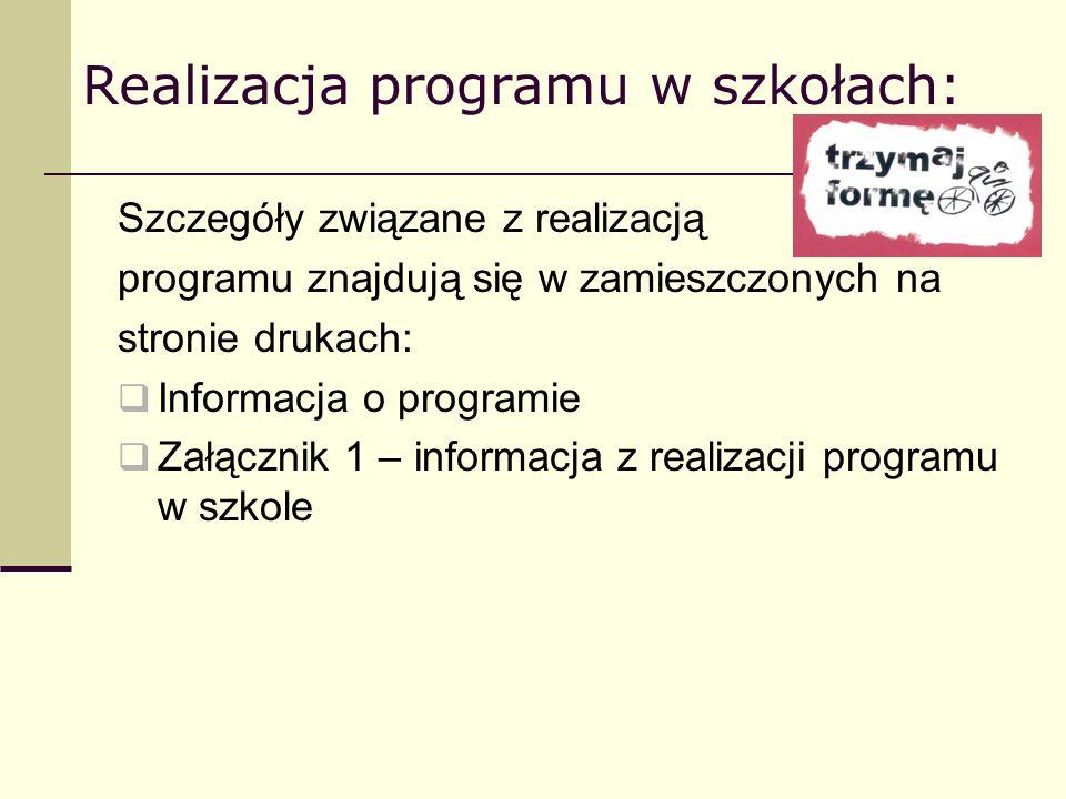 Realizacja programu w szkołach: