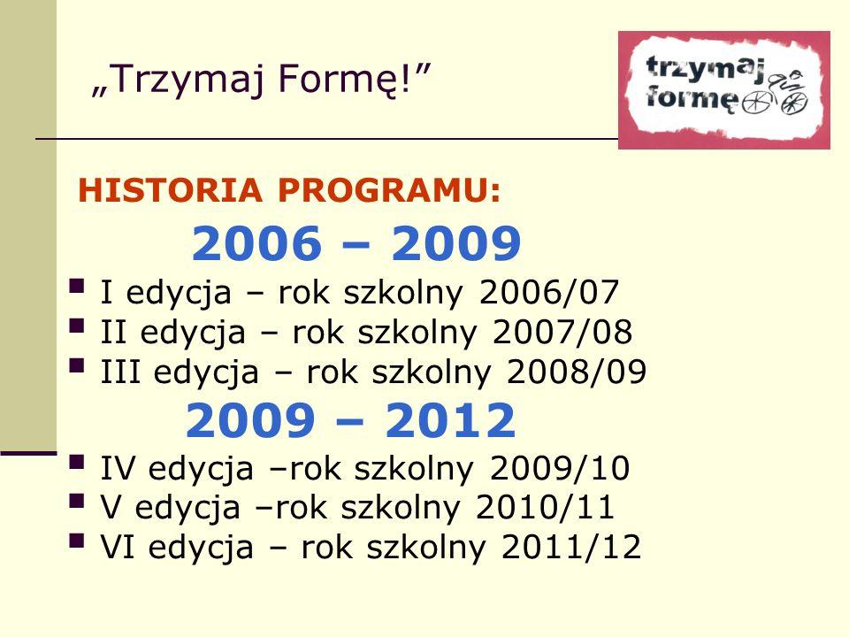 """2006 – 2009 """"Trzymaj Formę! HISTORIA PROGRAMU:"""