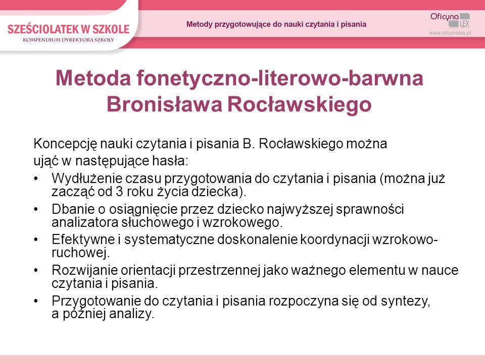 Metoda fonetyczno-literowo-barwna Bronisława Rocławskiego