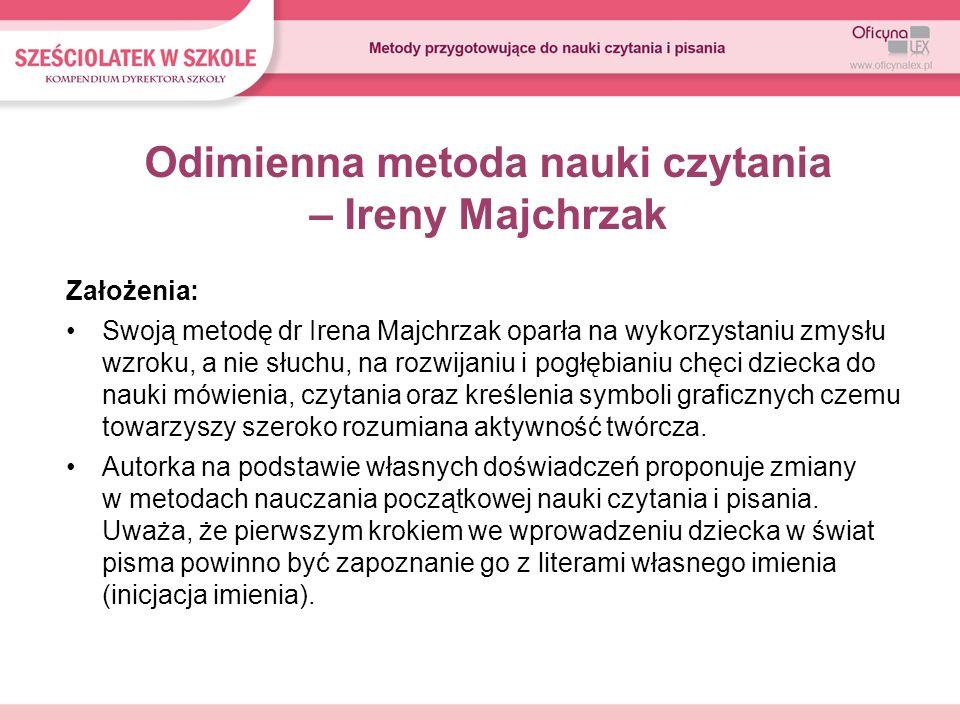 Odimienna metoda nauki czytania – Ireny Majchrzak