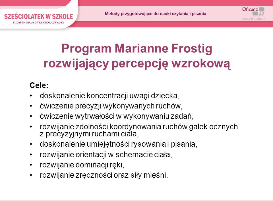 Program Marianne Frostig rozwijający percepcję wzrokową