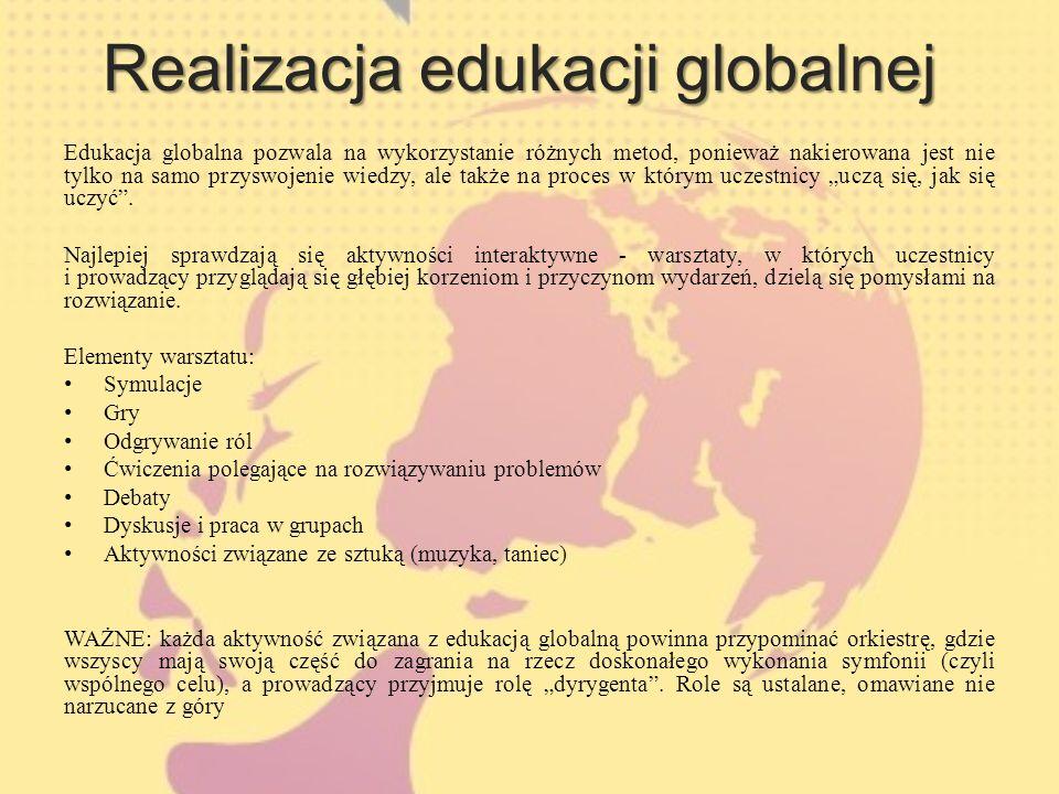 Realizacja edukacji globalnej