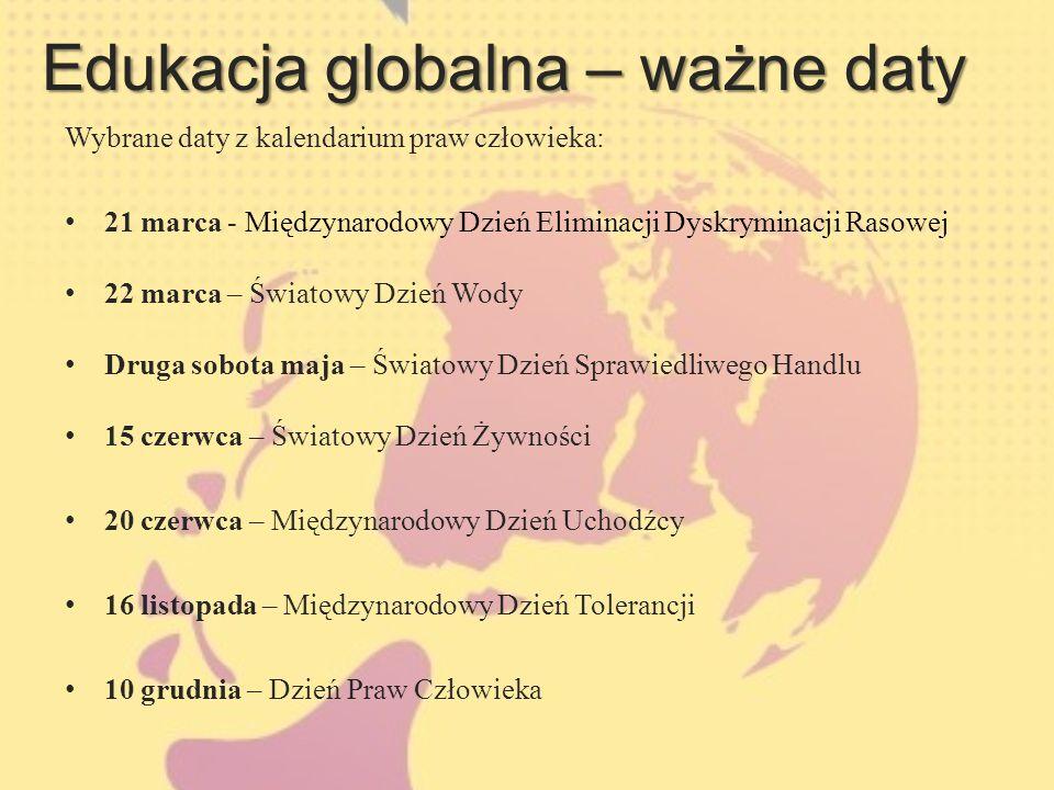 Edukacja globalna – ważne daty