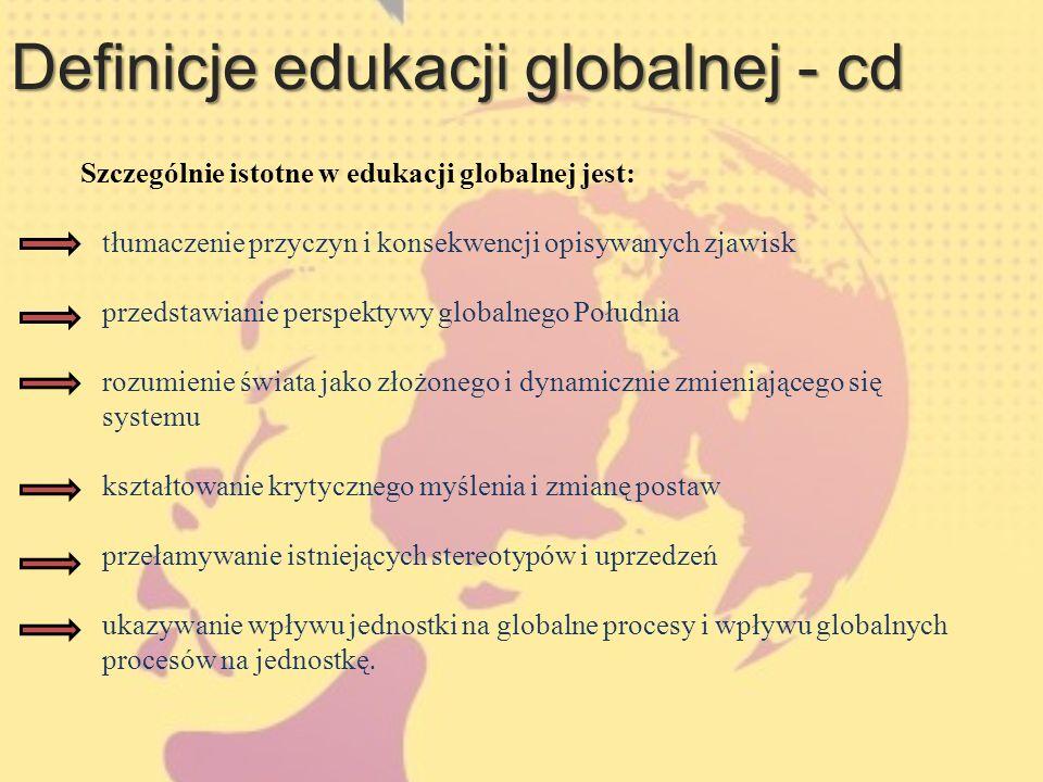 Definicje edukacji globalnej - cd