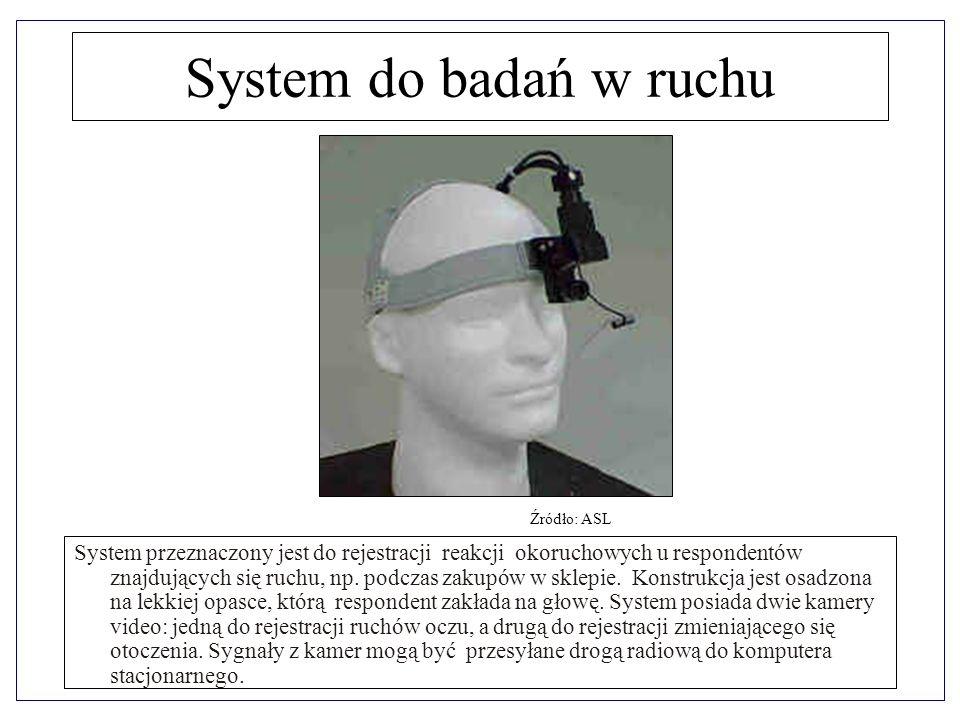 System do badań w ruchu Źródło: ASL.
