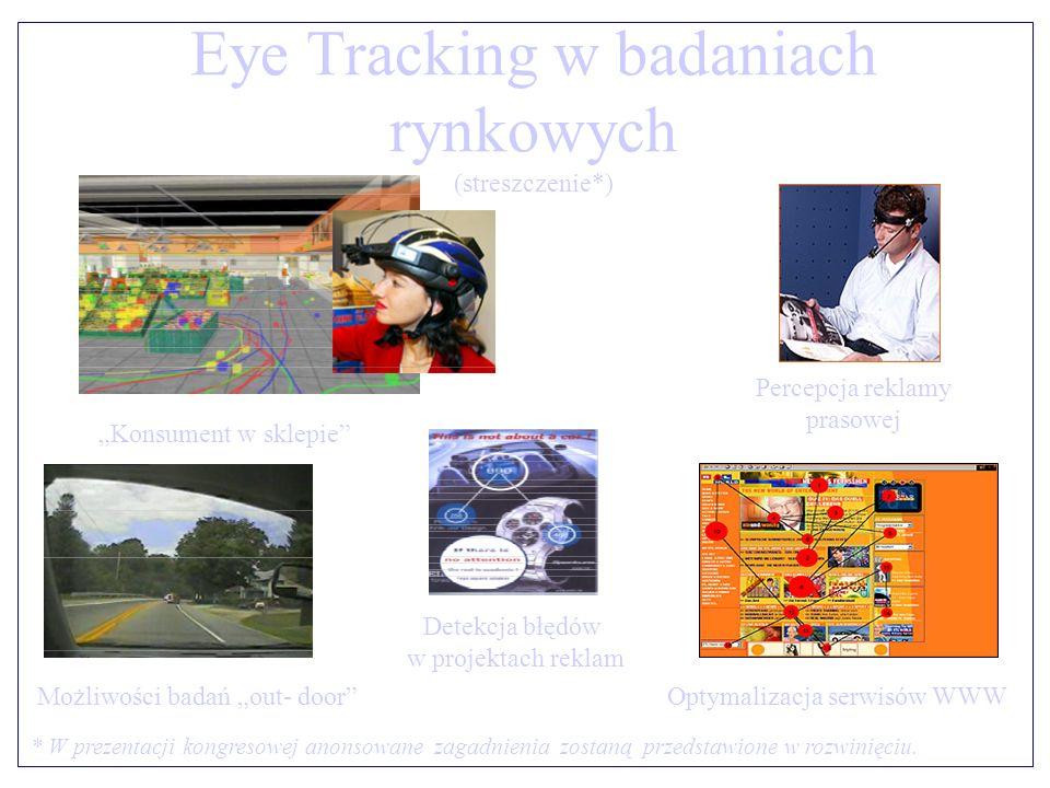 Eye Tracking w badaniach rynkowych (streszczenie*)