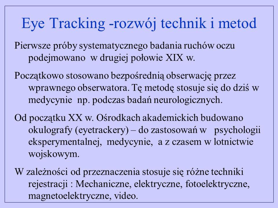 Eye Tracking -rozwój technik i metod