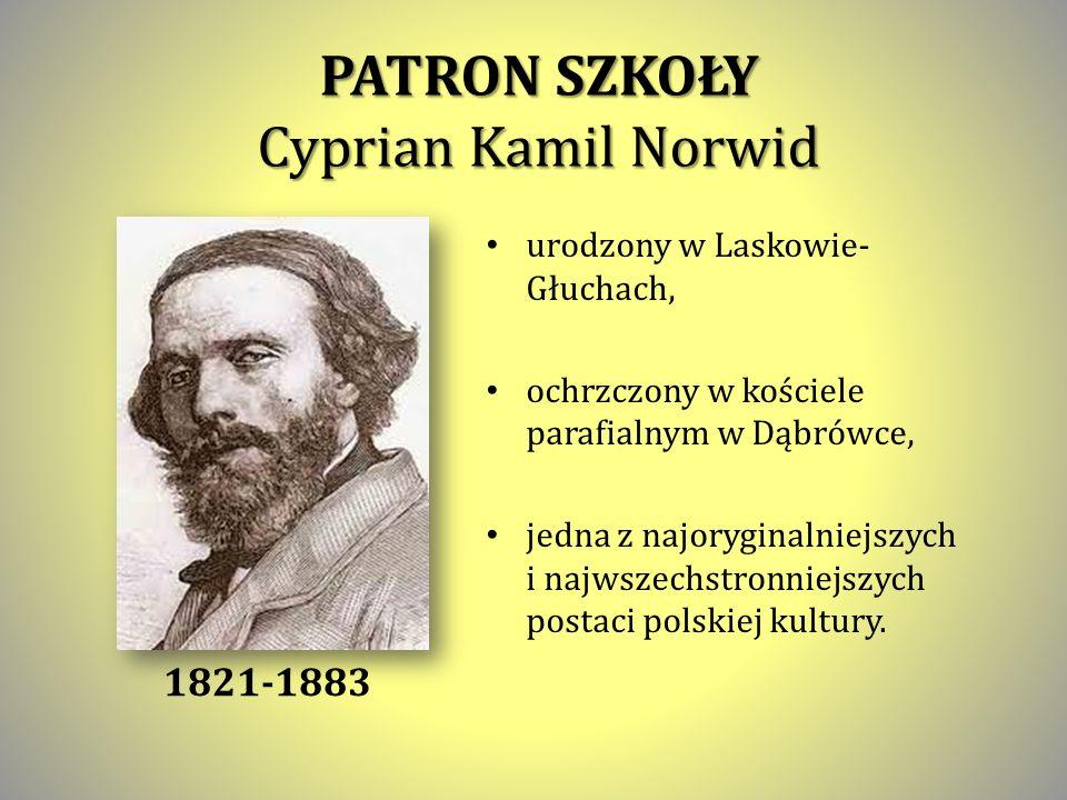 PATRON SZKOŁY Cyprian Kamil Norwid