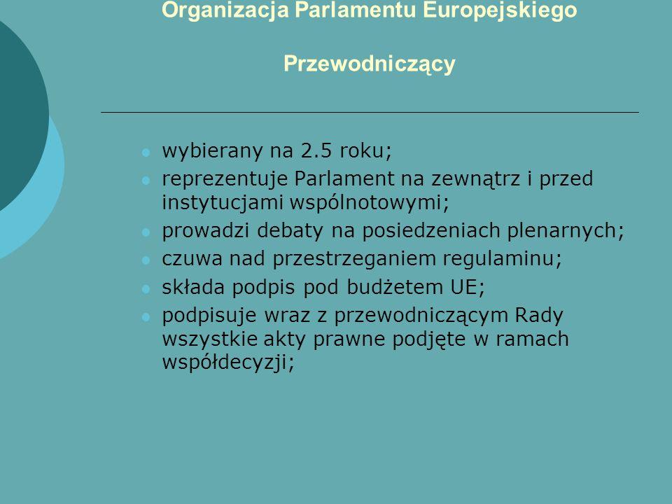 Organizacja Parlamentu Europejskiego Przewodniczący