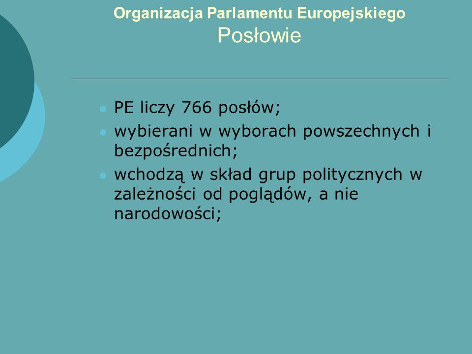 Organizacja Parlamentu Europejskiego Posłowie
