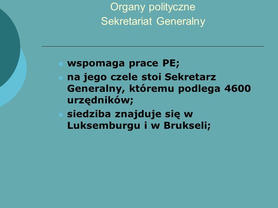 Organy polityczne Sekretariat Generalny