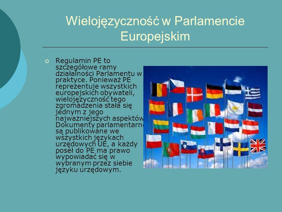 Wielojęzyczność w Parlamencie Europejskim