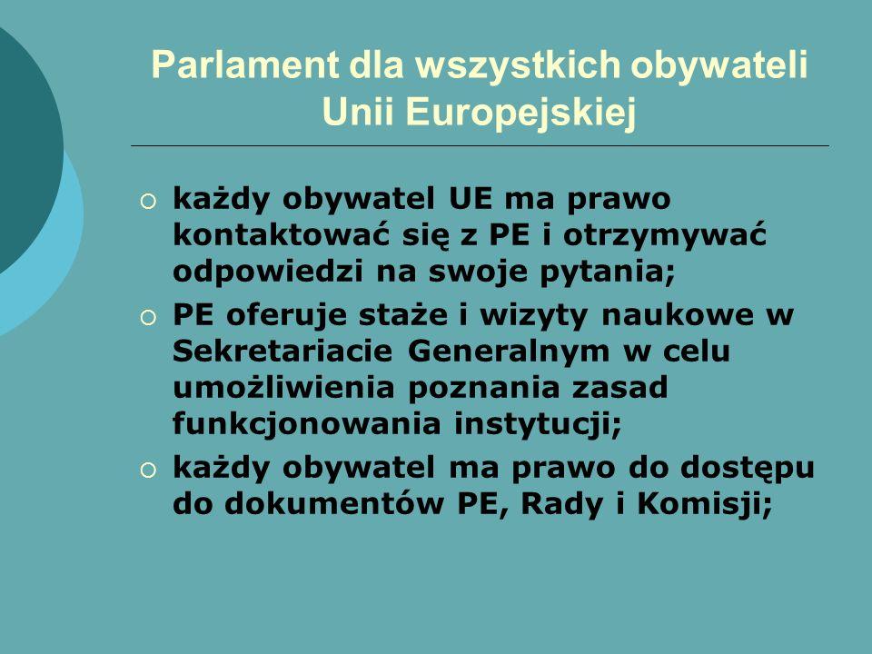Parlament dla wszystkich obywateli Unii Europejskiej