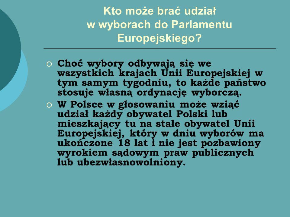 Kto może brać udział w wyborach do Parlamentu Europejskiego