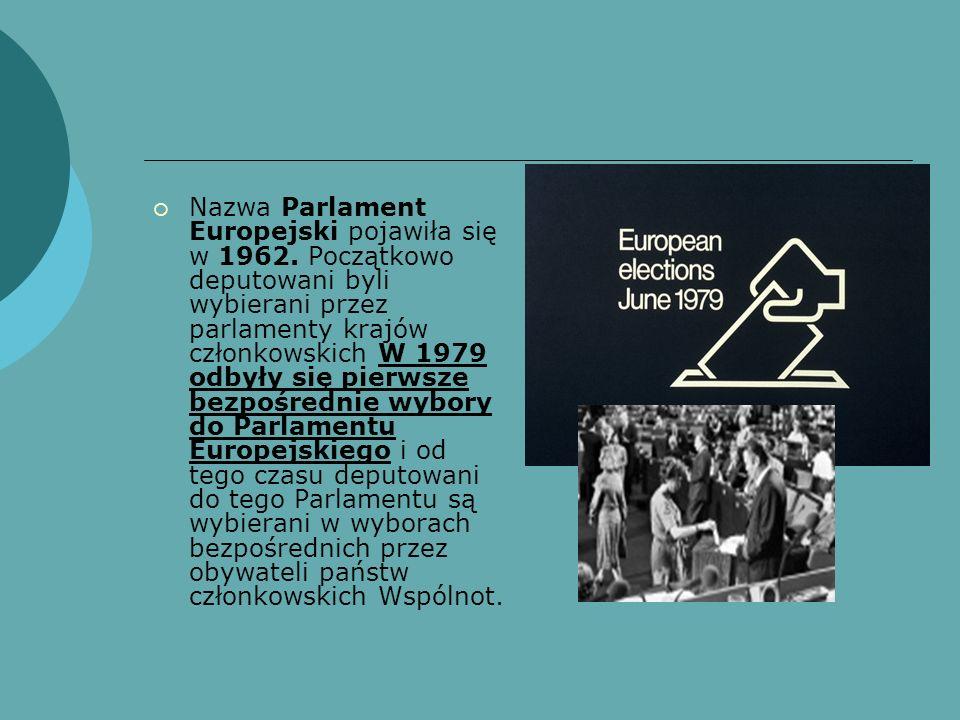 Nazwa Parlament Europejski pojawiła się w 1962