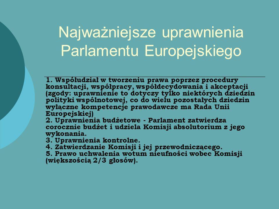 Najważniejsze uprawnienia Parlamentu Europejskiego
