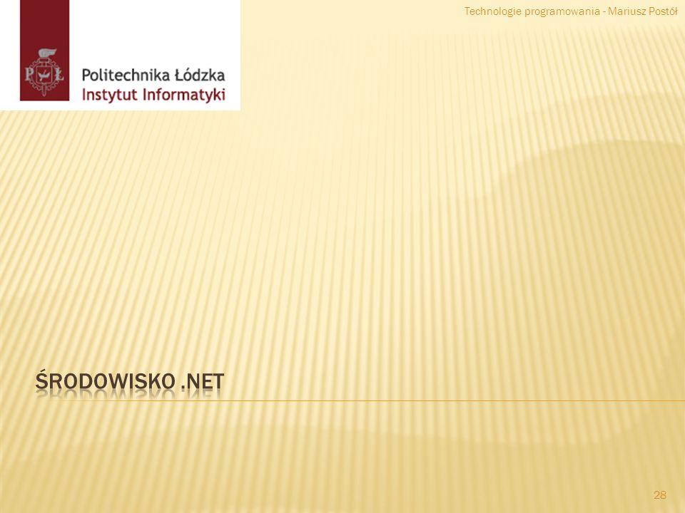 Technologie programowania - Mariusz Postół