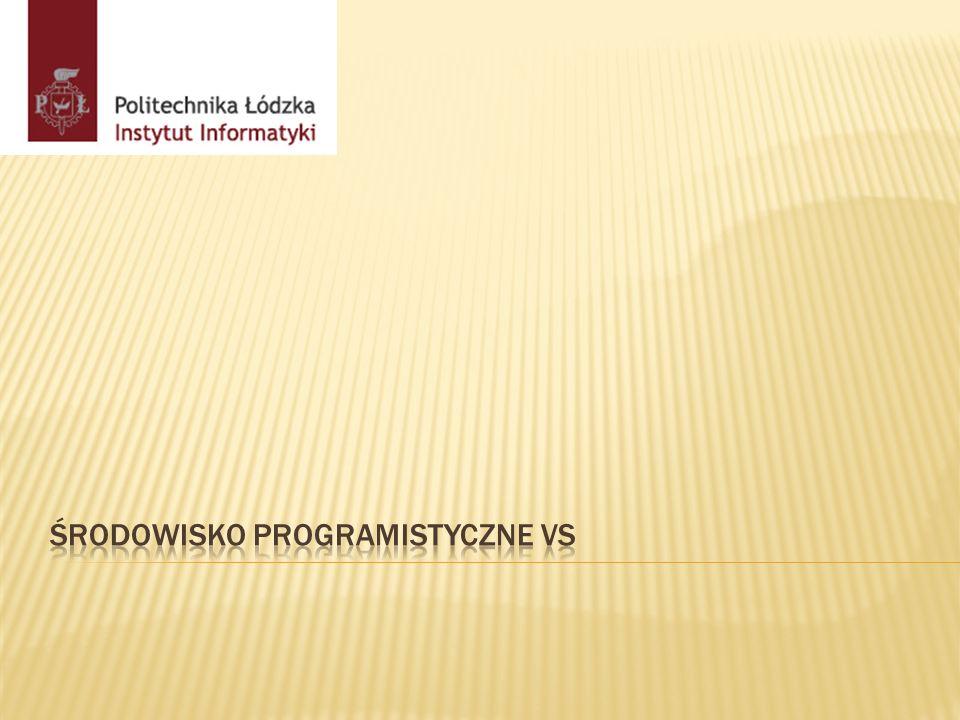 Środowisko programistyczne VS
