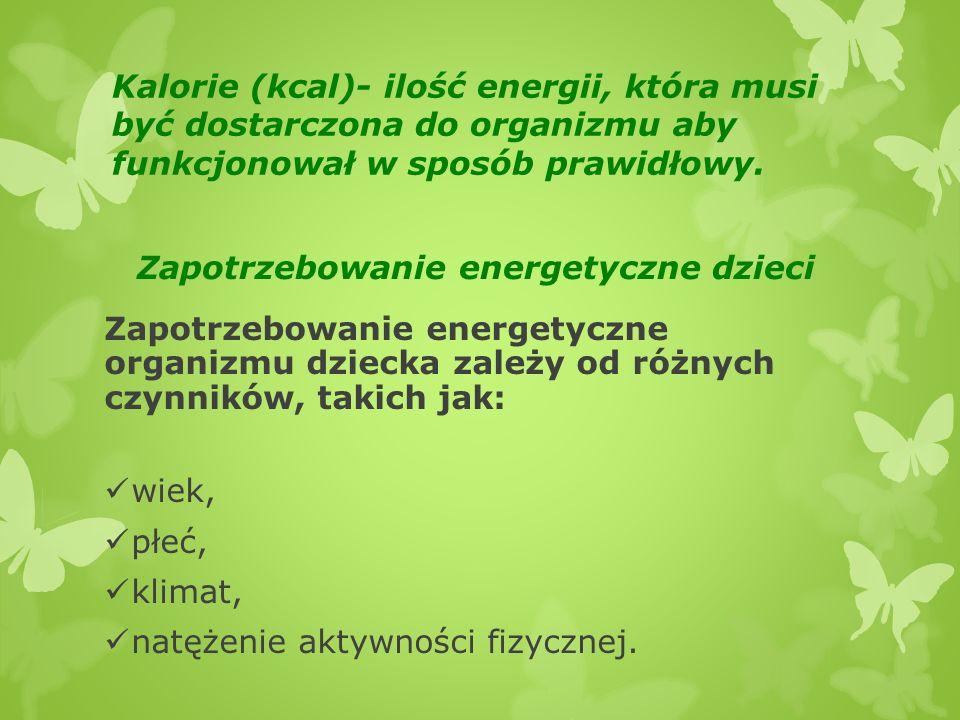 Zapotrzebowanie energetyczne dzieci