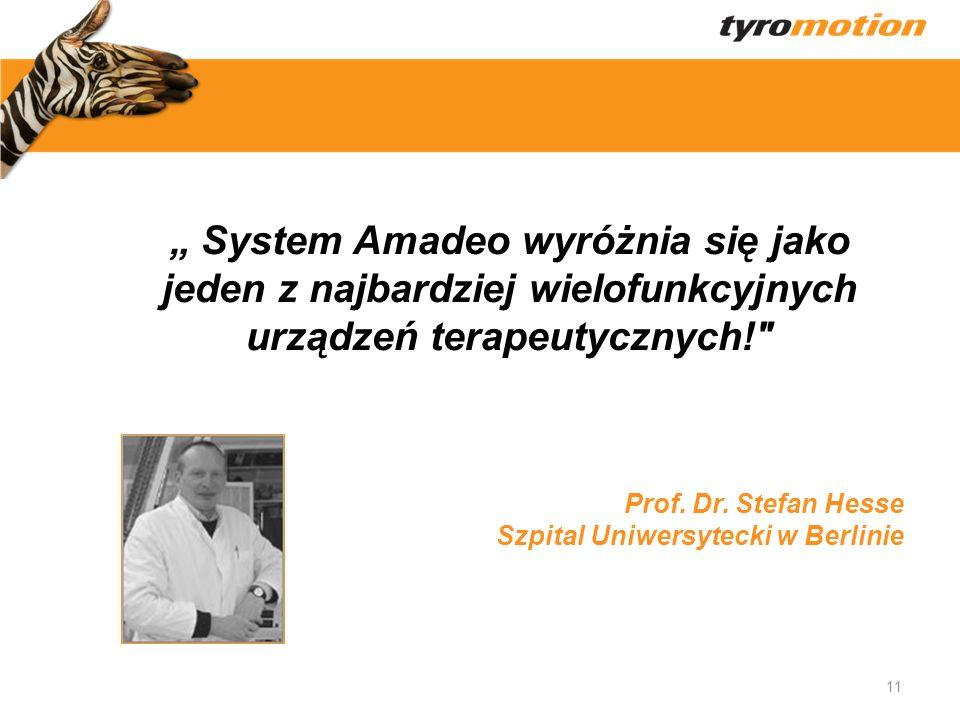 """"""" System Amadeo wyróżnia się jako jeden z najbardziej wielofunkcyjnych urządzeń terapeutycznych!"""
